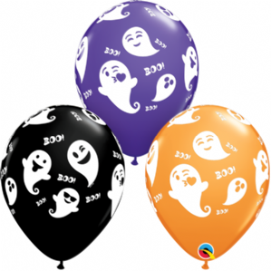 Halloween Latex Balloons | Emoticon Ghosts | Free Delivery